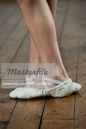 Close-up of Dancer's Feet Stock Photo - Rights-Managed, Image code: 700-01788382