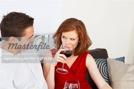 Couple Drinking Wine Stock Photo - Rights-Managed, Image code: 700-01792366