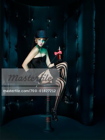 Portrait of Showgirl Stock Photo - Rights-Managed, Image code: 700-01827212