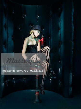 Portrait of Showgirl Stock Photo - Rights-Managed, Image code: 700-01827213