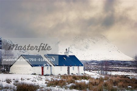 Black Rock Cottage, Rannoch Moor, Near Glen Coe, Scotland Stock Photo - Rights-Managed, Image code: 700-01827263