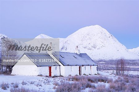 Black Rock Cottage, Rannoch Moor, Near Glen Coe, Scotland Stock Photo - Rights-Managed, Image code: 700-01827266