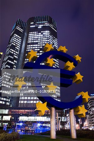 European Central Bank Building, Frankfurt, Hessen, Germany Stock Photo - Rights-Managed, Image code: 700-01879227