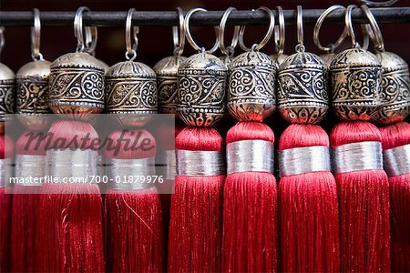 Tassels for Sale, Medina of Marrakech, Morocco