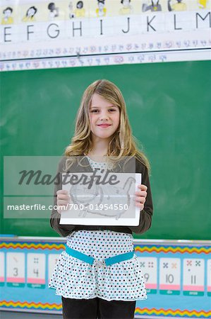 Student in Classroom, Showing Drawing Stock Photo - Rights-Managed, Image code: 700-01954550