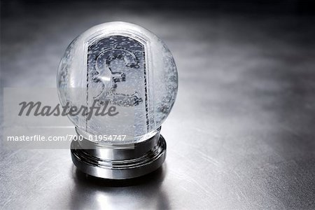 British Currency Symbol in Snow Globe Stock Photo - Rights-Managed, Image code: 700-01954747