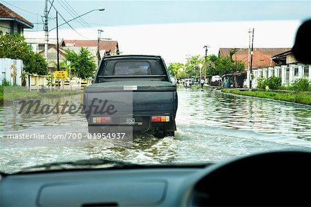 Flooded Streets in Semarang, Central Java, Java, Indonesia Stock Photo - Rights-Managed, Image code: 700-01954937