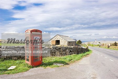 Telephone Booth by Farm, England Stock Photo - Rights-Managed, Image code: 700-01955199