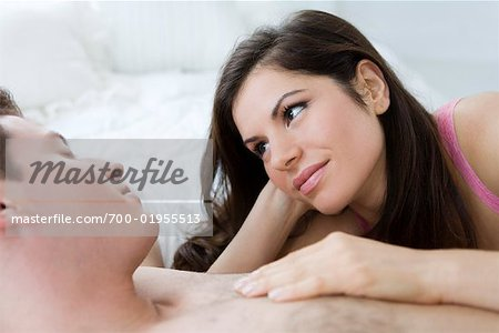 Couple in Bed Stock Photo - Rights-Managed, Image code: 700-01955513