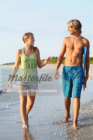 Couple Walking on the Beach, South Florida, Florida, USA Stock Photo - Rights-Managed, Image code: 700-02046249