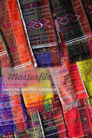 Fabrics at Market, Porsea, Sumatra, Indonesia