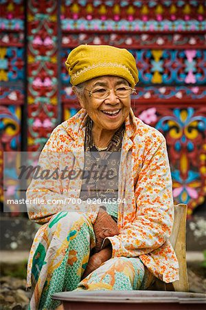 Portrait of Woman in Traditional Clothing, Pandai Sikat, Sumatra, Indonesia Stock Photo - Rights-Managed, Image code: 700-02046594