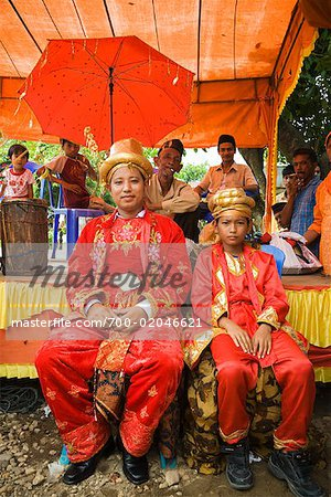 Groom and Best Man, Pasar Kambang, Sumatra, Indonesia Stock Photo - Rights-Managed, Image code: 700-02046621