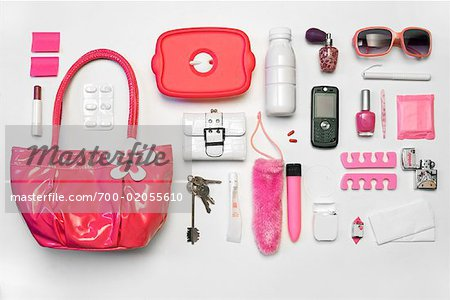 Still Life of Purse and It's Contents Stock Photo - Rights-Managed, Image code: 700-02055610