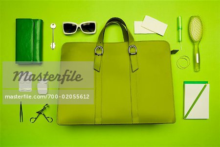 Still Life of Purse and It's Contents Stock Photo - Rights-Managed, Image code: 700-02055612