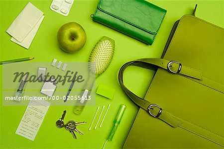 Still Life of Purse and It's Contents Stock Photo - Rights-Managed, Image code: 700-02055613