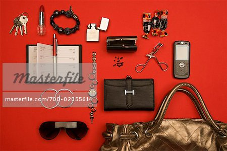 Still Life of Purse and It's Contents Stock Photo - Rights-Managed, Image code: 700-02055614