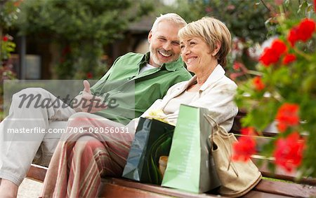 Couple on Park Bench Stock Photo - Rights-Managed, Image code: 700-02056031