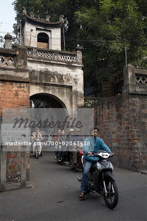 People on Motorcycles, Hanoi, Vietnam Stock Photo - Rights-Managed, Image code: 700-02063638