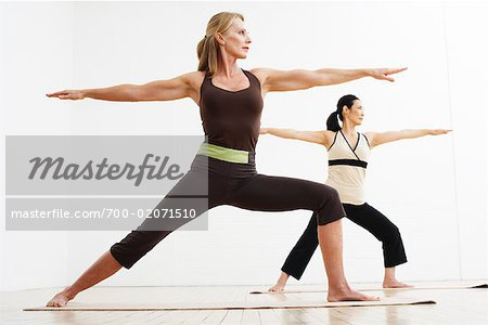 Women Doing Yoga in Studio Stock Photo - Rights-Managed, Image code: 700-02071510