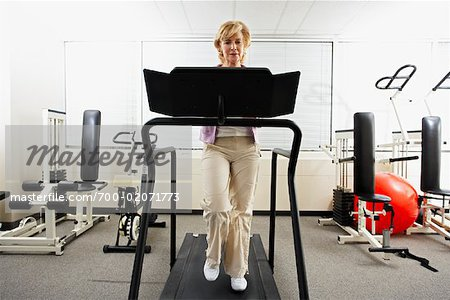 Woman using Treadmill Stock Photo - Rights-Managed, Image code: 700-02071773