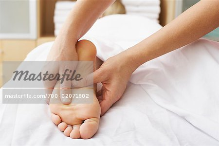 Close-up of Woman's Foot being Massaged Stock Photo - Rights-Managed, Image code: 700-02071802