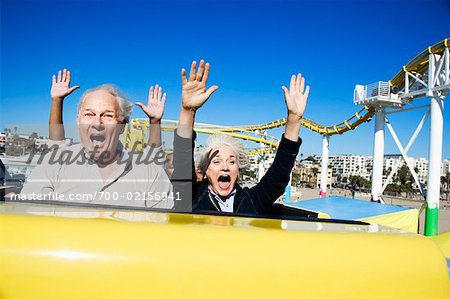 People on Roller Coaster, Santa Monica, California, USA Stock Photo - Rights-Managed, Image code: 700-02156941