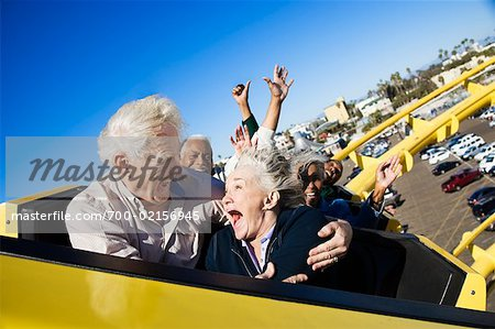 People on Roller Coaster, Santa Monica, California, USA Stock Photo - Rights-Managed, Image code: 700-02156945