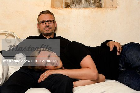 Couple on Bed Stock Photo - Rights-Managed, Image code: 700-02198272