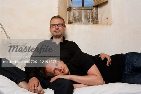 Couple on Bed Stock Photo - Rights-Managed, Image code: 700-02198273