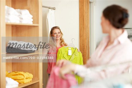 Women Shopping in Clothing Store