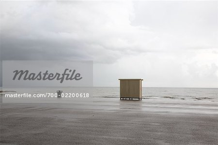Dressing Hut on Beach, Galveston, Texas, USA Stock Photo - Rights-Managed, Image code: 700-02200618