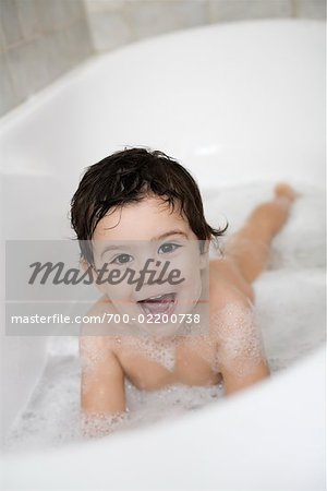 Boy in Bathtub, Rome, Latium, Italy Stock Photo - Rights-Managed, Image code: 700-02200738