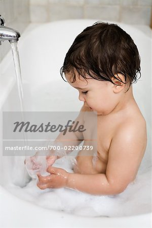 Boy in Bathtub, Rome, Latium, Italy Stock Photo - Rights-Managed, Image code: 700-02200739