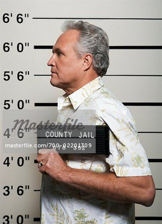 Mug Shot of Man Stock Photo - Rights-Managed, Image code: 700-02201309