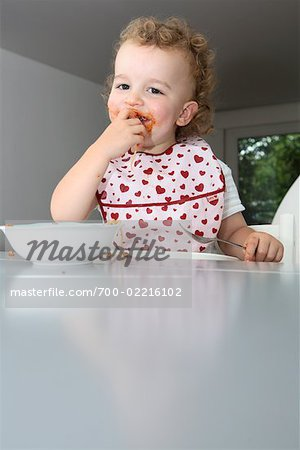 Baby Eating Spaghetti Stock Photo - Rights-Managed, Image code: 700-02216102