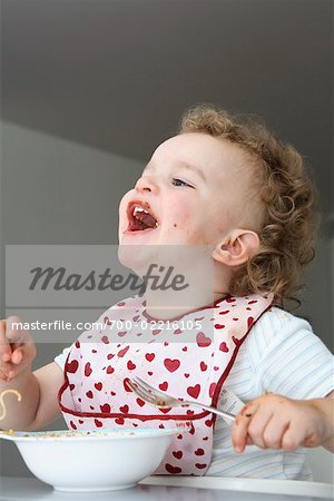 Baby Eating Spaghetti Stock Photo - Rights-Managed, Image code: 700-02216105