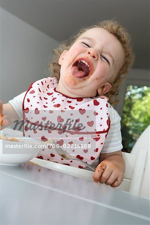 Baby Eating Spaghetti Stock Photo - Rights-Managed, Image code: 700-02216108