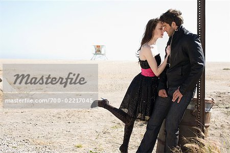 Couple Standing on Beach Stock Photo - Rights-Managed, Image code: 700-02217045
