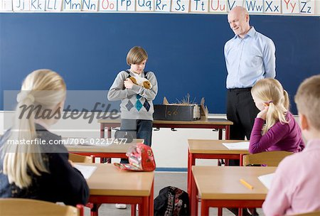 Teacher and Students in Classroom Stock Photo - Rights-Managed, Image code: 700-02217477