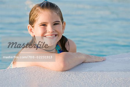 Portrait of Girl in Swimming Pool Stock Photo - Rights-Managed, Image code: 700-02231913