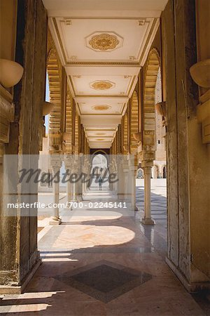 Portico of Hassan II Mosque, Casablanca, Morocco Stock Photo - Rights-Managed, Image code: 700-02245141