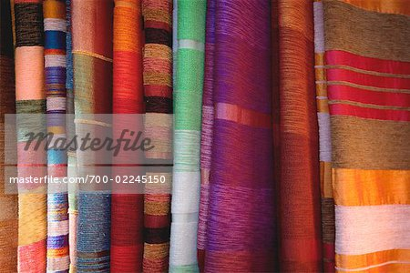 Store Display of Fabric, Morocco