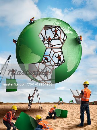 Construction Workers Building a Globe Stock Photo - Rights-Managed, Image code: 700-02264966