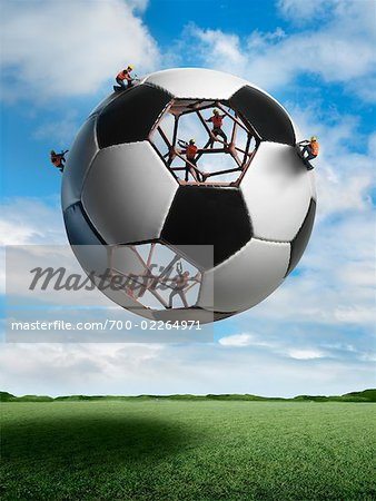 Construction Workers Building a Soccer ball Stock Photo - Rights-Managed, Image code: 700-02264971
