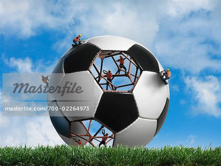 Construction Workers Building a Soccer ball Stock Photo - Rights-Managed, Image code: 700-02264973