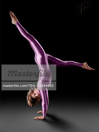 Gymnast Doing a Handstand Stock Photo - Rights-Managed, Image code: 700-02264992