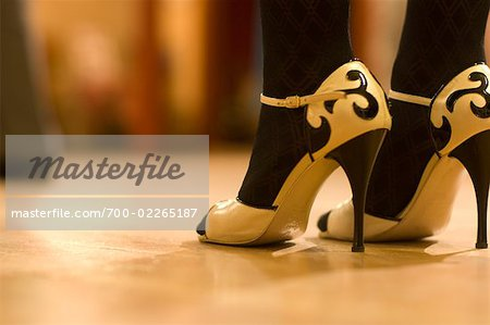 Close-Up of Dancer's Shoes, Portland, Oregon Stock Photo - Rights-Managed, Image code: 700-02265187