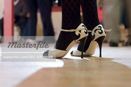 Close-Up of Dancer's Shoes, Portland, Oregon Stock Photo - Rights-Managed, Image code: 700-02265188