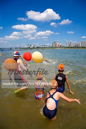 Swimming Contest in Han River, Seoul, South Korea Stock Photo - Rights-Managed, Image code: 700-02289640